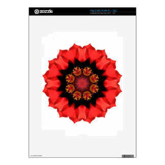 Red Flower Pizazz! Decals For The iPad 2
