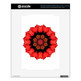 Red Flower Pizazz! NOOK Skin