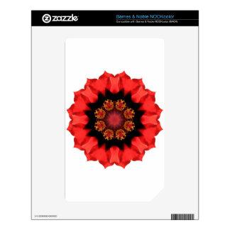 Red Flower Pizazz! Skin For NOOK Color