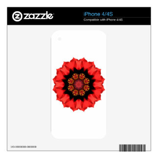 Red Flower Pizazz! Decal For The iPhone 4