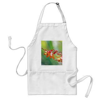Red flower plant adult apron