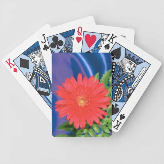 Red Flower - Playing Cards