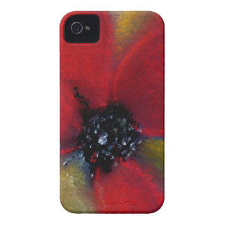 Red Flower Poppy iPhone 4 Case-Mate Cases