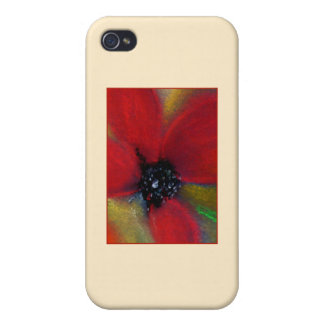 Red Flower Poppy iPhone 4 Cover