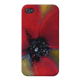 Red Flower, Poppy. Case For iPhone 4