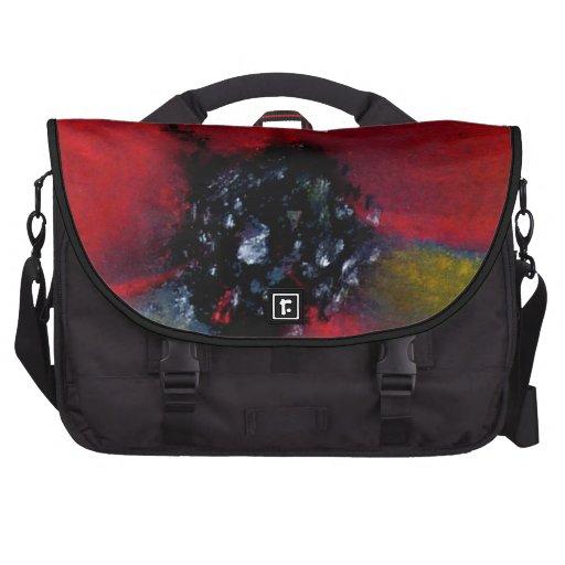 Red Flower, Poppy. Laptop Commuter Bag