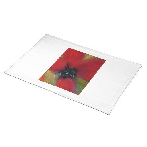 Red Flower, Poppy. Placemats
