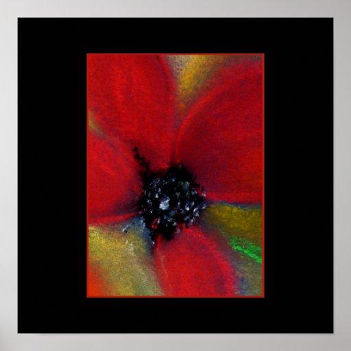 Red Flower, Poppy. Poster