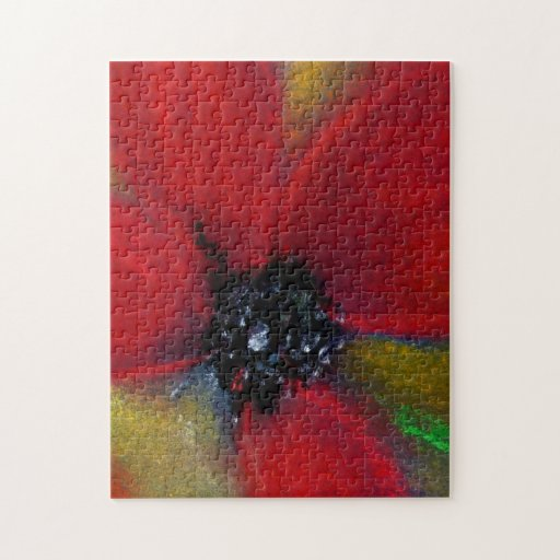 Red Flower, Poppy. Puzzle