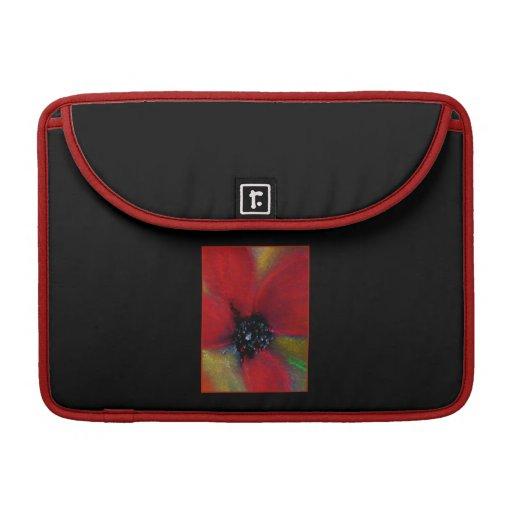 Red Flower, Poppy. Sleeve For MacBooks