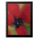 Red Flower, Poppy. Spiral Notebooks