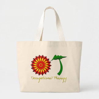 Red Flower Power Tote Bags