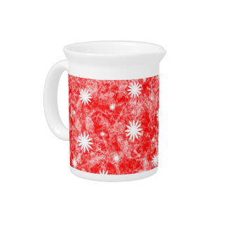 Red Flower Power Drink Pitchers