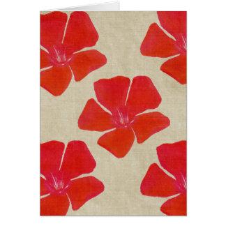 Red Flower Print Card