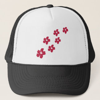 red flower rain icon trucker hat