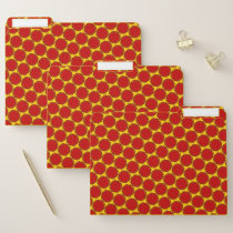 Red Flower Ribbon by Kenneth Yoncich File Folder