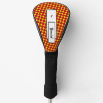Red Flower Ribbon by Kenneth Yoncich Golf Head Cover