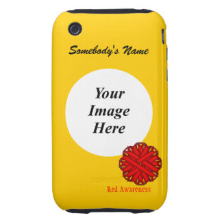 Red Flower Ribbon by Kenneth Yoncich iPhone 3 Tough Cover