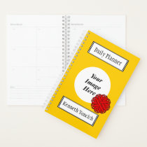 Red Flower Ribbon by Kenneth Yoncich Planner