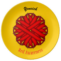 Red Flower Ribbon by Kenneth Yoncich Plate