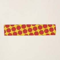 Red Flower Ribbon by Kenneth Yoncich Scarf