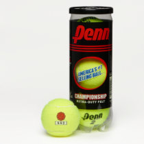 Red Flower Ribbon by Kenneth Yoncich Tennis Balls