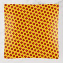 Red Flower Ribbon by Kenneth Yoncich Trinket Trays