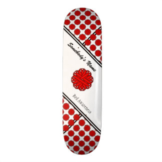 Red Flower Ribbon byh Kenneth Yoncich Skateboard