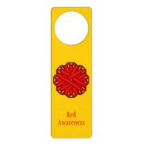 Red Flower Ribbon Door Hanger
