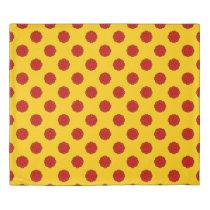 Red Flower Ribbon Duvet Cover