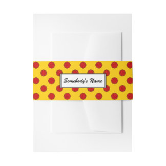 Red Flower Ribbon (Pers) Invitation Belly Band