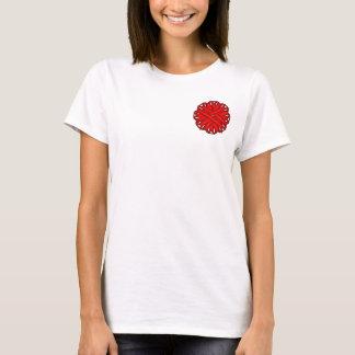 Red Flower Ribbon T-Shirt