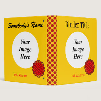 Red Flower Ribbon Template Binder