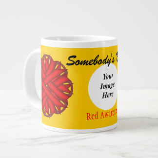 Red Flower Ribbon Template by Kenneth Yoncich Giant Coffee Mug