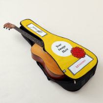 Red Flower Ribbon Template by Kenneth Yoncich Guitar Case