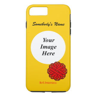 Red Flower Ribbon Template by Kenneth Yoncich iPhone 7 Plus Case