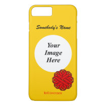 Red Flower Ribbon Template by Kenneth Yoncich iPhone 8 Plus/7 Plus Case