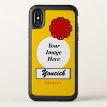 Red Flower Ribbon Template by Kenneth Yoncich Speck iPhone X Case