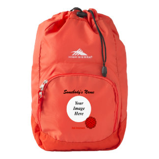Red Flower Ribbon Template High Sierra Backpack
