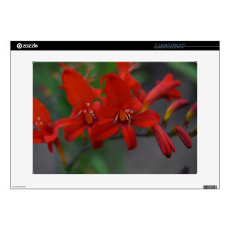 Red Flower Decals For Laptops