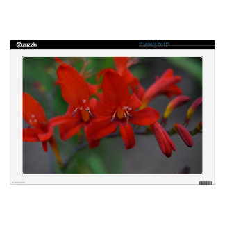 """Red Flower 17"""" Laptop Decal"""