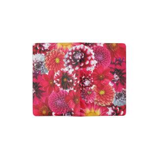 Red Flower Smash Pocket Moleskine Notebook Cover With Notebook