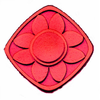Red Flower Statuette