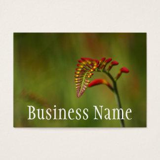 Red Flower Stem Flower Business Card