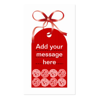 Red Flower Tag Business Card