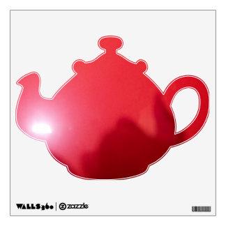 Red Flower Tea Pot Decal © Roseanne Pears 2012.