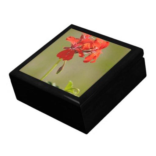 Red flower trinket boxes