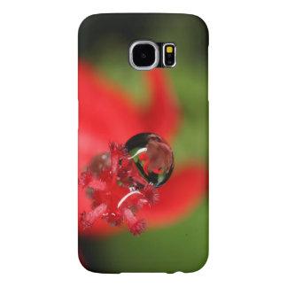 Red Flower Waterdrop Samsung Galaxy S6 Case