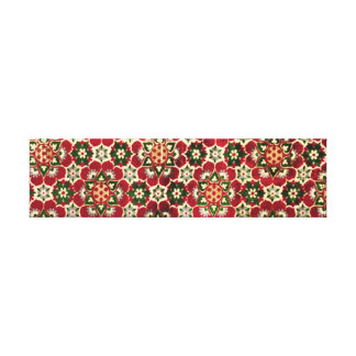 Red Flowered Medici Fabric Canvas Print