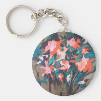 Red-flowered Shrub Keychain